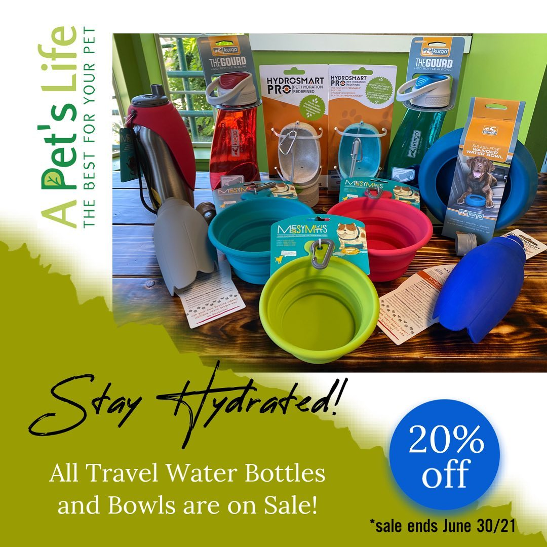 Pet Travel Bottles and Bowls on sale