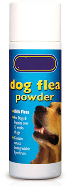 bottle of dog flea powder